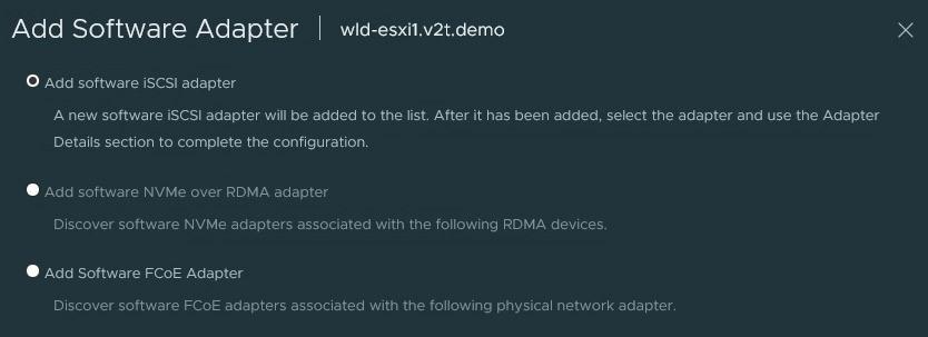 Add iSCSI Adapter